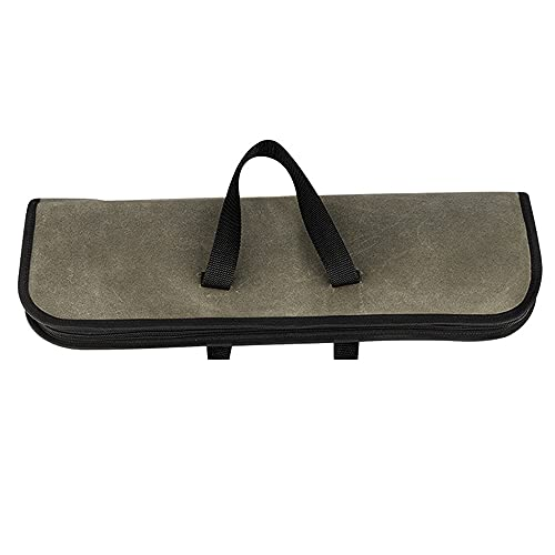 Keifen Canvas Chef'S Roll Bag, Case(4 Slots), Canvas Chef's Roll Bag with Durable Handles, Portable Waterproof Bag Case