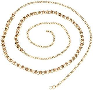 RITIH Belly Chain Pearl Gold Plated Wedding Jewellery Kamarband for Women and Girls Kamar Dhaniya