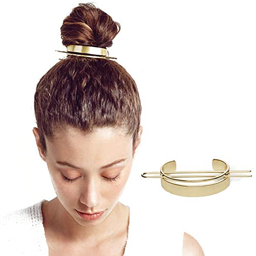 Alloy Hair Pin,Minimalist Round Top Hair pins Bun Cage Hair Stick Wedding Hair Accessories Hair Jewelry
