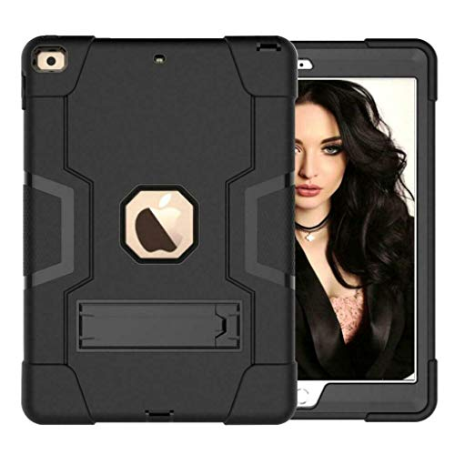 "YCXBOX iPad 10.2"" 7th 8th Gen 2019 2020 Case, Shockproof Drop-Protection Hybrid Impact Rugged Heavy Duty Stand Cover Case for Apple iPad 10.2 inch"