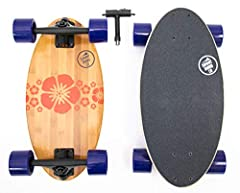"""Get the ride of a longboard in 19"""" package Includes free Skate adjustment tool 78A Wheels for multiple terrain types ABEC-11 bearings Maple and Bamboo 7-ply board for strength and control"""
