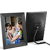 Nixplay 9.7 inch Smart Digital Photo Frame with WiFi and 2K Display (W10E) - Black - Share Photos and Videos Instantly via Email or App