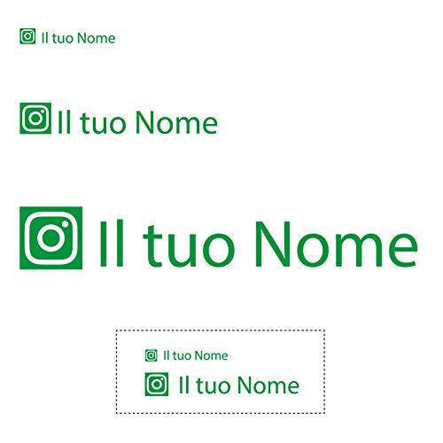 Sticker Mimo Pegatinas personalizadas con nombre y Social Instagram para ordenador portátil, MacBook, tablet y teléfono móvil, coche, moto, monopatín, bicicleta eléctrica (verde)