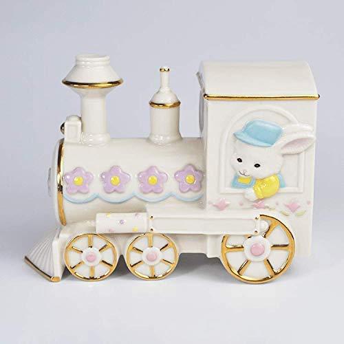 ZWWZ Kreative handgefertigte Keramik Mr. Rabbit beginnt mit den dekorativen Ornamenten der Lokomotive-Ceramic Home Crafts MISU