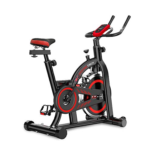 Body Sculpture Unisex's BC4617 Exercise Bike, Black/Red, 110 x 51 x 114cm