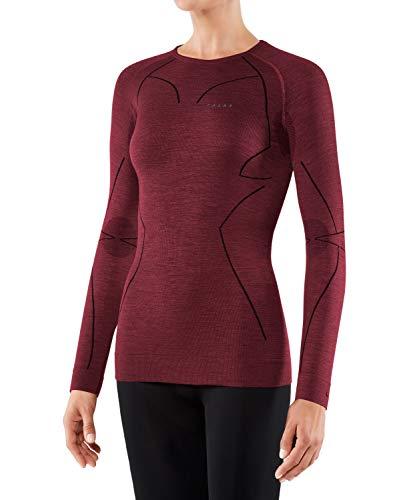 Falke Women Long Sleeved Shirt Wool-Tech Capa de Base Superior, Mujer, Ruby, Medium