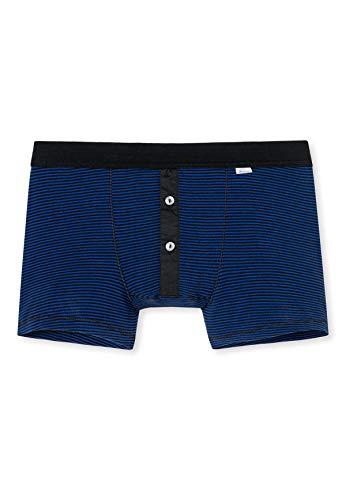 SCHIESSER REVIVAL Shorts Hommes - Ringel, Karl-Heinz, Classic, à Fines côtes Bleu Royal L (Large)