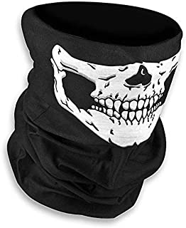 Lumanuby Máscara de calavera sin costuras para Halloween Máscara mágica, Protección Máscara De Polvo Bandana braga cálida de calavera para esquiar, hacer ciclismo o montar en motocicleta