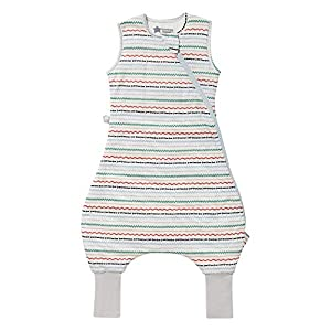 Tommee Tippee Saco de dormir para bebé con piernas, The Original Grobag Steppee, mameluco para bebé, tela suave rica en algodón, 6-18 m, 2,5 Tog, grandes Squiggles