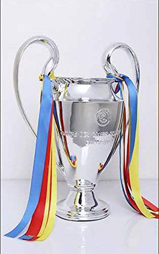 Oggo Champions League Trophy UEFA Trophies Soccer Replica Award 2021 Chelsea Large Big Ear Awards Cup Silver Plating Football Medal Fans Souvenir for Collections Home Decoration (Size : 77CM/30.31)