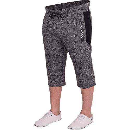 D Rock - Pantalón corto deportivo - cargo - para hombre gris gris oscuro Medium