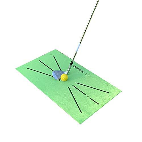MOC Golfmatte Golf Trainingsmatte Minigolf Trainingshilfe Golf Swing Detection Schlagmatte Golf Fairway Matten Outdoor Indoor Golfplatz Putting Übungsausrüstung(Ohne Golf)