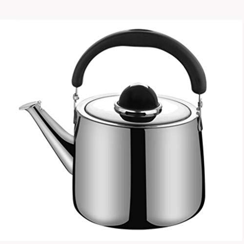 Tetera silbante Whistling Gas Kettle 304 Acero inoxidable 2.5L / 3L / 4L / 5L / 6L / 7L Hogar espesar cocina de induccion de gas de alta capacidad Restaurante Caldera WHLONG (Size : 2.5L)
