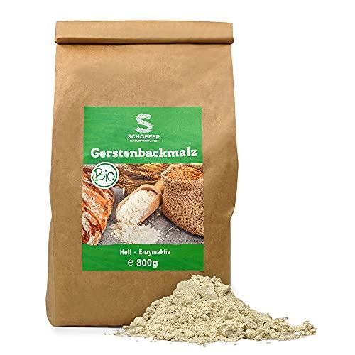 Schoefer Naturprodukte BIO Gerstenbackmalz - nährstoffreich - 100 % Gerste - vegan - nachhaltig und umweltbewusst - 800 g Packung