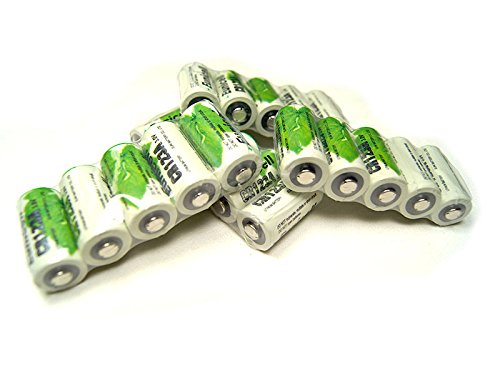 Lot de 20 Piles Cr123A 3V Lithium 1500mAh Eunicell