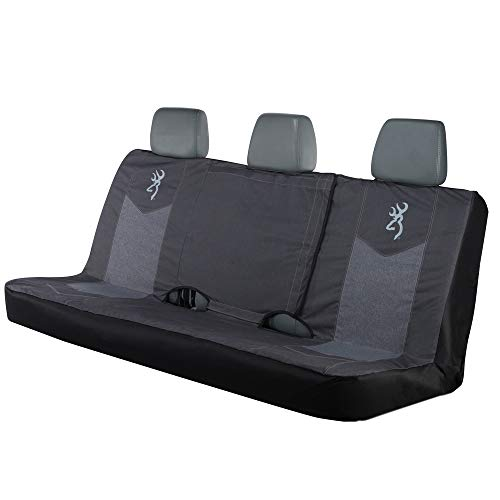 Browning Heather Black Full Size Bench Seat Cover