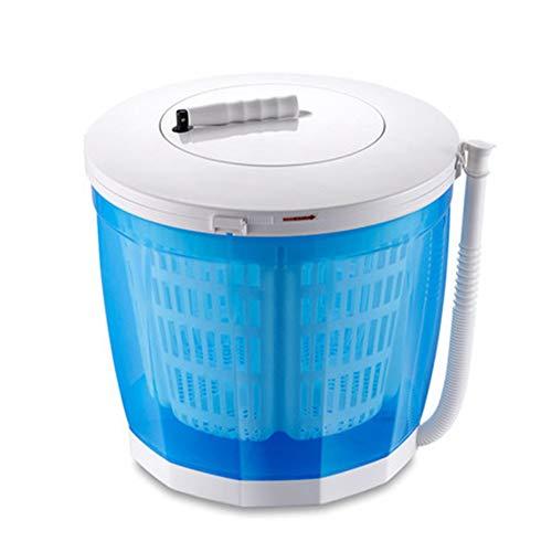 NYDG Handkurbel Mini-Waschmaschine tragbar nicht-elektrisch kompakt Wäschetrockner blau