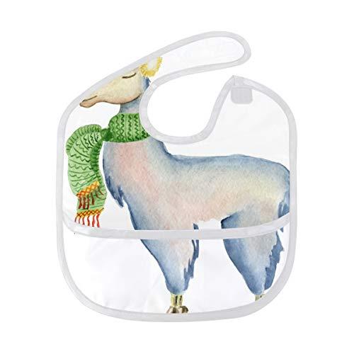 DEZIRO Baby Drooler Bib Alpaca Sjaal Llama Waterdichte Baby Bib Wasbaar Vlek en Geurbestendig