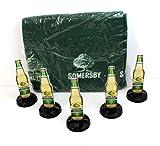 Somersby Set: Fleecedecke + 5 Tischaufsteller Menükarten ~mn 656 1035+
