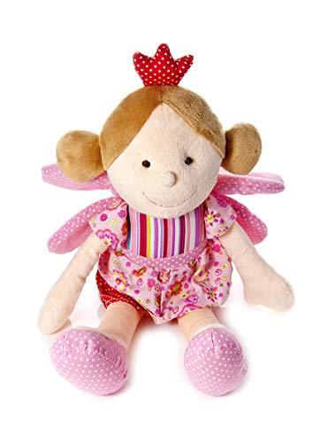 Mousehouse Gifts Rosa Märchenprinzessin Poupetta Puppe Prinzessin mit Flügeln und Krone