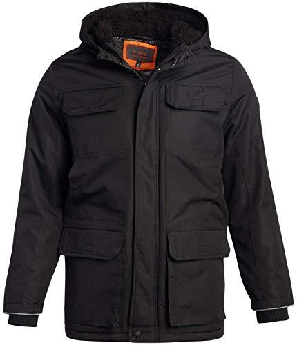 URBAN REPUBLIC Men's Winter Jacket - Heavyweight parka Coat with Sherpa Lined Hood, Size Medium, Black
