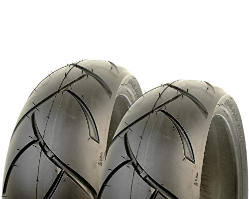 2EXTREME 120/70-12 und 130/70-12 Roller Sommer Reifen kompatibel für Peugeot Speedfight 2, Satz, Set