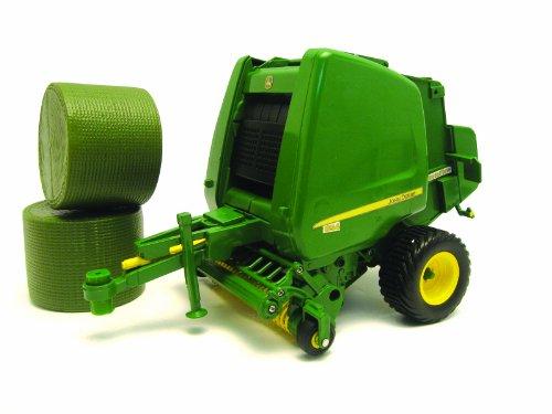 Tomy Big Farm - 42710 - Véhicule Miniature - Presse à Balles Rondes John Deere 854