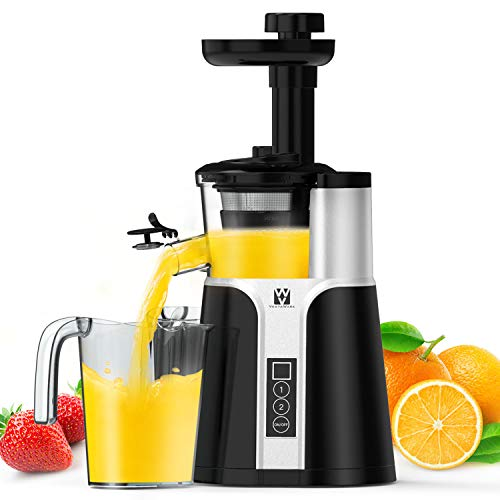 Juicer Machines, Vestaware Slow Masticating Juicer Extractor, Easy to Clean Juicer with Quiet Motor, BPA-Free Cold Press Juicer for Vegetables and Fruits