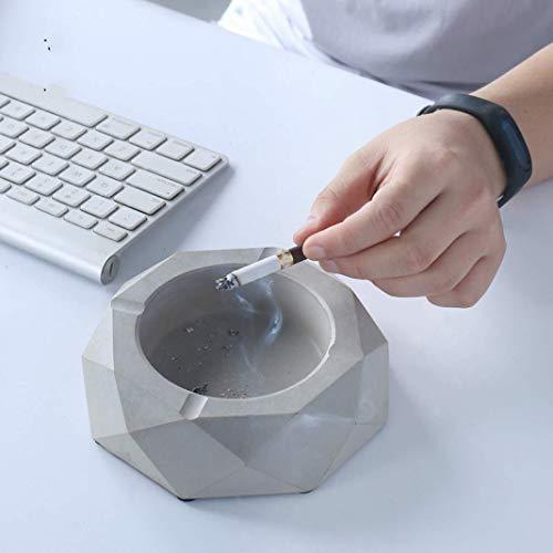 AMITD grijze ronde cementzakhouder van beton sigarenhouder accessoires knutseldecoratie voor op kantoor thuis% A