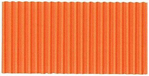 primera reputación de los clientes primero Corobuff Corobuff Corobuff Fade Resistant Solid Color Corrugated Paper Roll, 48 in X 25 ft, naranja by Shindigz  diseño único