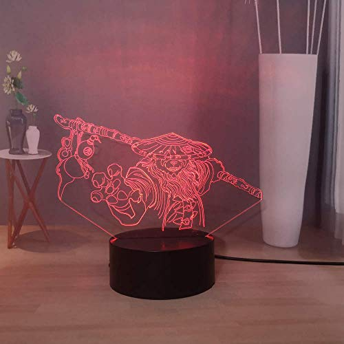 Juego World Of Warcraft LED Night Light Sylvanas Windrunner Lámpara de escritorio Símbolo de la Horda Lámpara de mesa Blademaster Lich King Lámpara de noche
