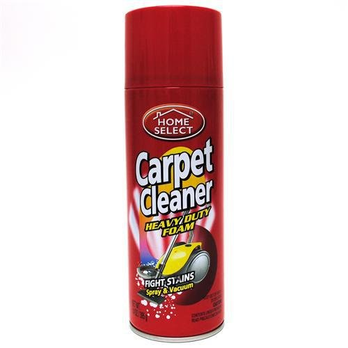 Home Select 6108 Carpet Cleaner Heavy Duty Foam in Aerosol Spray Can, 14-Ounce