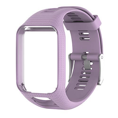 Pulseira de Silicone lilás lavanda Para Relógio TomTom Runner 2/3 / Spark/Adventure…