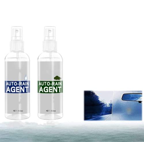 Car Glass Waterproof Coating Agent, Automobile Antifogging Agent, Hydrophobic Polish Nano Coating Spray,100ml(2 pcs) For windshields, car rearview mirrors, glass shower doors etc