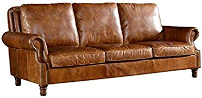 Amazon.com: Faux Leather Futon Sofa Bed-Convertible Sofa Bed ...