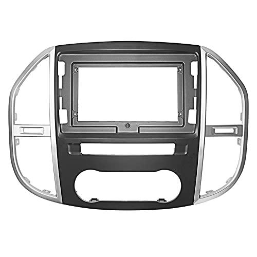LIBINA Compatible con Mercedes-Benz Vito 2016 2017 2018 2019 Marco De Navegación, Accesorios ABS Interior Consola Central Cubierta De Salida De Ventilación Marco De Navegación