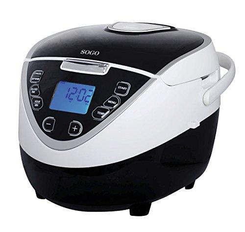 Sogo OLL-SS-10760 Robot de cocina automático, 900 W, 5 litros, Acero Inoxidable, Negro y blanco