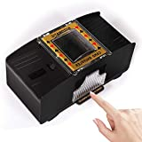 Anzid Automatic Card Shuffler 2 Deck, Battery-Operated Electric Poker Shuffler,Playing Card Shuffler for Home Card Game,Travel,Classic Poker,Blackjack,Rummy