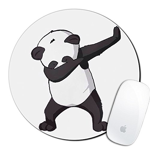 Royal up Panda Custom Mouse Pad Gaming Mat Keyboard Pad Waterproof Material Non-Slip Personalized Round Mouse pad (7.8x7.8x0.08Inch)