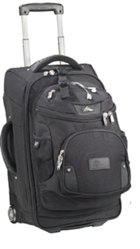 High Sierra 22 Wheeled Carry-On Luggage with Removable DayPack-Black by High Sierra