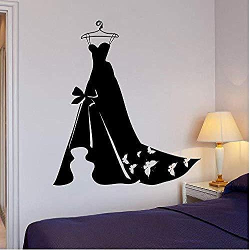 Wandbild Schönes Kleid Wandtattoo Hochzeitskleid Frauen Kleidung Mode Vinyl Aufkleber Kunst Mädchen Schlafzimmer Wandbild Schaufenster Dekor 57 * 61Com: Amazon.de: DIY & amp;Werkzeuge