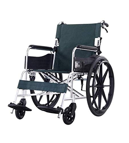 N/Z Daily Equipment Wheelchair Lightweight Aluminum Folded Transport Travel Portable Chair with a Toilet Pan Self Light Upholstered Chairs