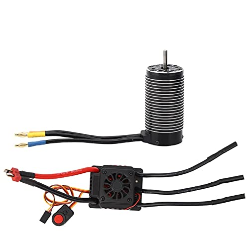 Eddwiin RC Car 150A Brushless ESC + 4082 Brushless Motor Upgrade Parts para RC Car Model Car Repuestos Controlador de Velocidad electrónico ( Color : 50A ESC and Motor )