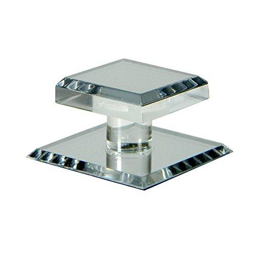 Mirart 1-1/2 x 2 Pull Handle, Self Stick Square Acrylic Mirror Knob (1)