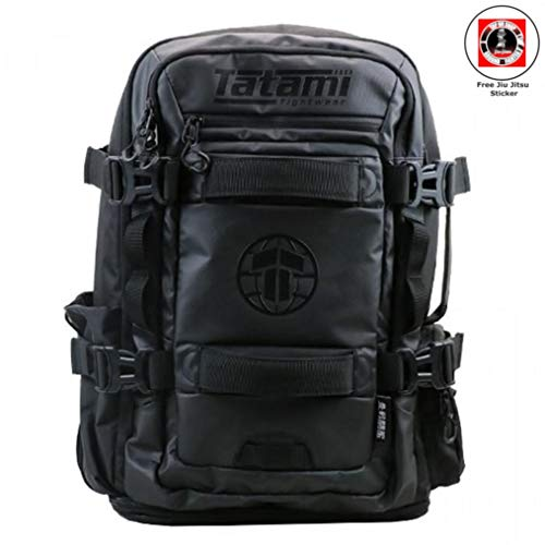 Tatami Rucksack Omega - Hybridrucksack Sportrucksack Sporttasche Trainingstasche für Jiu Jitsu, Fitness, Kampfsport - Bundle mit Jiu Jitsu Sticker