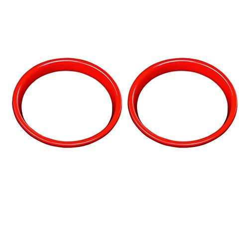 Piezas de automóviles 2 Piezas De Accesorios De Decoración del Coche del Altavoz Modificación Etiqueta Interiores Cubierta para Mini para Cooper S JCW F55 F56 F57 Decoración (Color : Rojo)