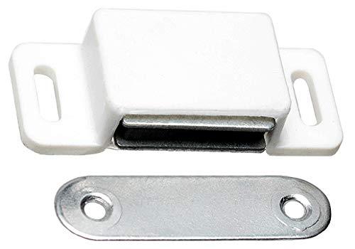 10 Magnet Möbelmagnet Stark Magnetschnäpper 55 Haltemagnet Weiss