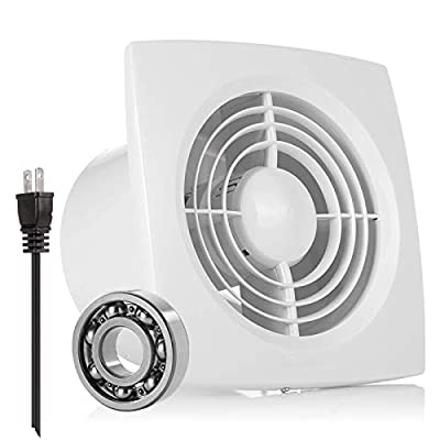 6'' Exhaust Ventilation Fan, HG POWER 2350RPM Silence and Quality Exhaust Extrator Fan Exhaust Duct Fan for Home or Office