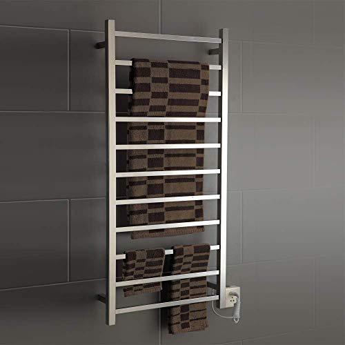 Chauffe-serviettes, porte-serviettes chauffant Contrôle intelligent de la température Séchage Acier inoxydable Économie d'énergie Salle de bains Porte-serviettes électrique Accessoires de salle de ba