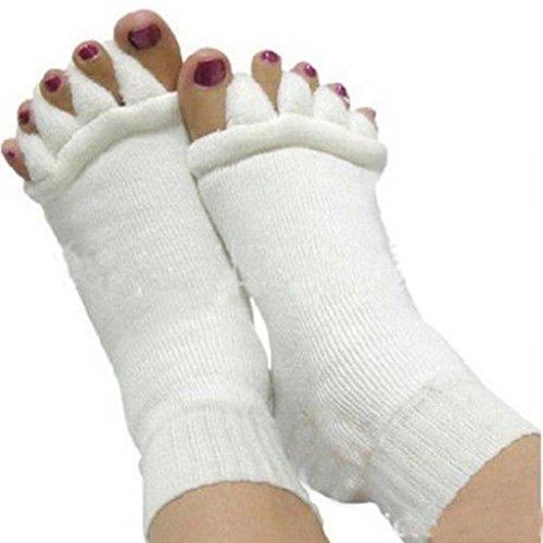 Naisicatar – 1Paar Massagesocken zur Fußkorrektur und Schmerzlinderung, mit Zehentrenner